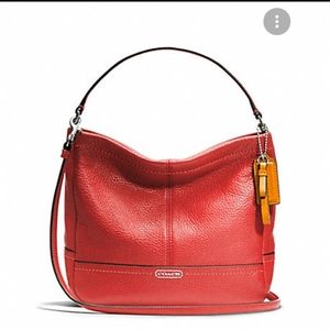 LIKE NEW! Coach Park Pebbled Leather Bag